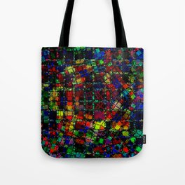 Urban Psychedelic Abstract Tote Bag