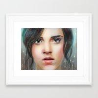 emma watson Framed Art Prints featuring Emma Watson by taryndraws2