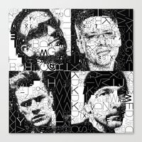 u2 Canvas Prints featuring U2 by Artstiles