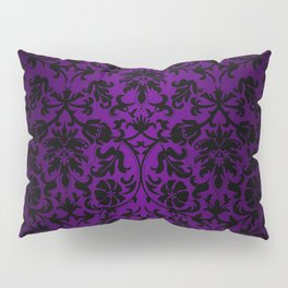 Purple and Black Damask Pattern Design Pillow Sham