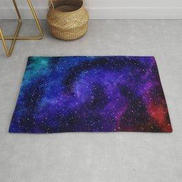 Gorgeous Colorful Deep Galaxy Rug