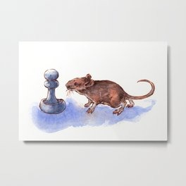 Mouse and Pawn Metal Print