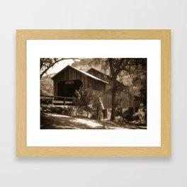 History Lost the Honey Run Covered Bridge Framed Art Print