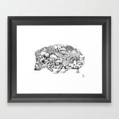 Mushroom Hedgehog Framed Art Print