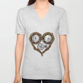Chemistry of love: dopamine and serotonin formula (Color version) Unisex V-Neck
