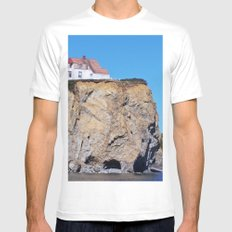 Living at the End of the World Mens Fitted Tee White MEDIUM