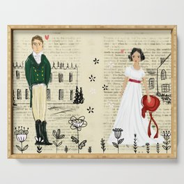 Mr.Darcy of Pemberley and Miss Bennet of Longbourn Serving Tray