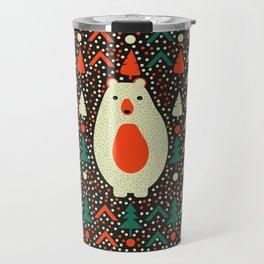 Bear, dots and Christmas trees Travel Mug