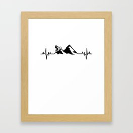 Mountainbike sport Framed Art Print