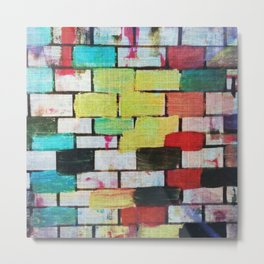 Painting 1 - Abstract Brick Urban Colourful Metal Print