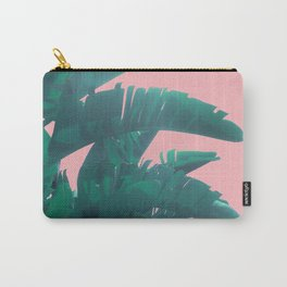 Banana Leaves on pink Carry-All Pouch