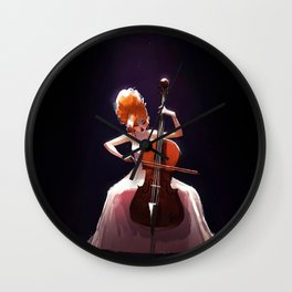 The Cello Player Wall Clock