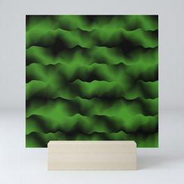 Emerald Green Waves Mini Art Print