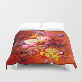 Passion Fruits and Flowers Duvet Cover