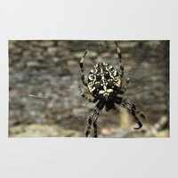 spider Area & Throw Rugs featuring Spider by moo2me