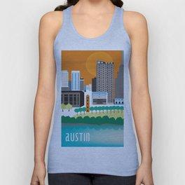 Austin, Texas - Skyline Illustration by Loose Petals Unisex Tank Top