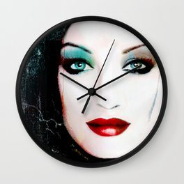 Blue look by Lika Ramati Wall Clock