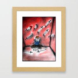 Nine Of Swords Framed Art Print