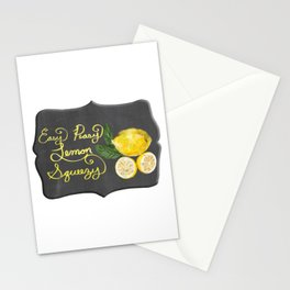 Easy Peasy Lemon Squeezy Chalkboard Graphic Design  Stationery Cards