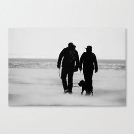Gegen den Wind -  Against the storm Canvas Print