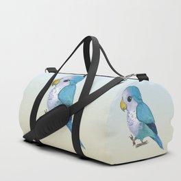 Very cute blue parrot Duffle Bag