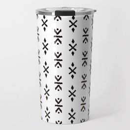 Black and white indian boho summer ethnic arrows Travel Mug