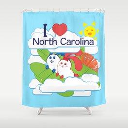 Ernest and Coraline | I love North Carolina Shower Curtain
