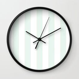 Italian ice heavenly - solid color - white vertical lines pattern Wall Clock