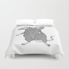 Two Headed Rat, I Love You Duvet Cover
