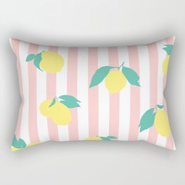 Lemon stripe print Rectangular Pillow