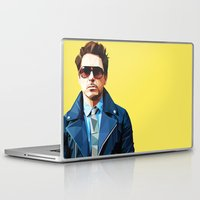 robert downey jr Laptop & iPad Skins featuring Robert Downey Jr - Low Poly Vector Art by khitkhat