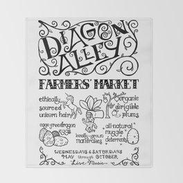 Diagon Alley Farmers' Market Throw Blanket
