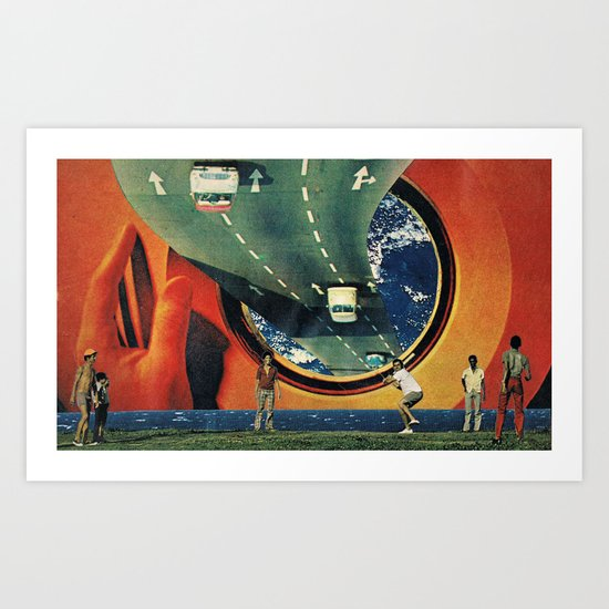 ...where are we going? Art Print