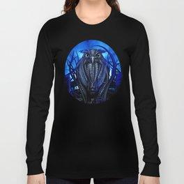 Mechanical Owl - Blue Long Sleeve T-shirt