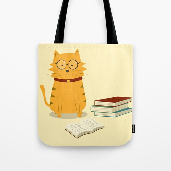 Nerdy Cat Tote Bag