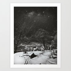 Cemetery Winter Dream Art Print