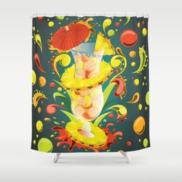 Beachside Blend - Mixology Series Shower Curtain