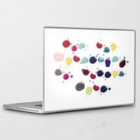 nail polish Laptop & iPad Skins featuring Colorful Nail polish by Luxe Glam Decor