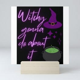Witch Halloween Cute Spooky Design Mini Art Print
