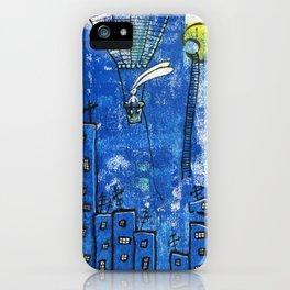 Superbunny on night duty iPhone Case