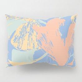 Stamped Gingko Leaves in Pastel Sorbet Pillow Sham