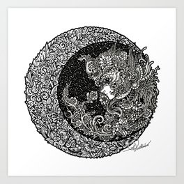Lunar Fetus Art Print