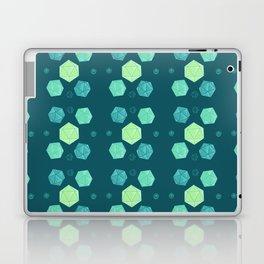 Blue & Green DnD Dice Laptop & iPad Skin