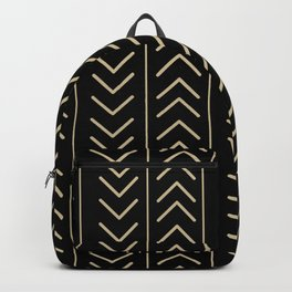 Mudcloth Black Backpack