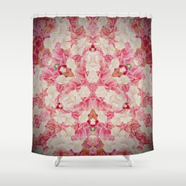 Pink and Cream Shower Curtain