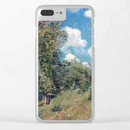 Alfred Sisley The Road from Versailles to Saint-Germain Clear iPhone Case