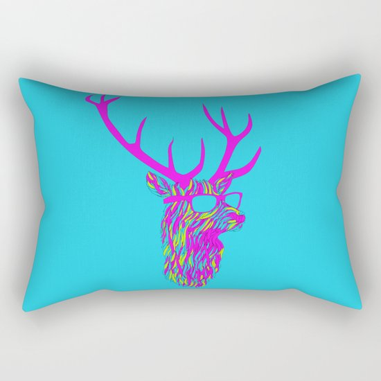 Party deer Rectangular Pillow