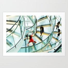 Staircase Rush Art Print