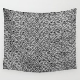 60s - Black abstract pattern on concrete - Mix & Match with Simplicty of life Wall Tapestry