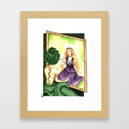 Reflections of the past Framed Art Print